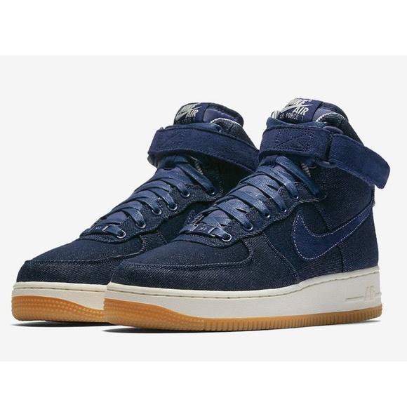 New Nike Air Force Ones Denim Blue Size 8 AF1 0a7321b12